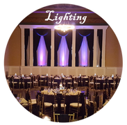 Uplighting, Up lighting, Wedding uplighting, lighting at weddings,